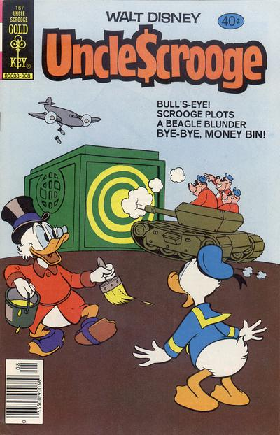 Cover for Uncle Scrooge (Western, 1963 series) #167 [Gold Key]