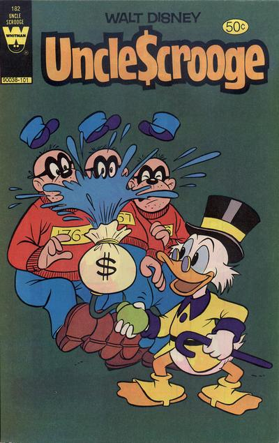 Cover for Uncle Scrooge (Western, 1963 series) #182 [40-Cent Variant]