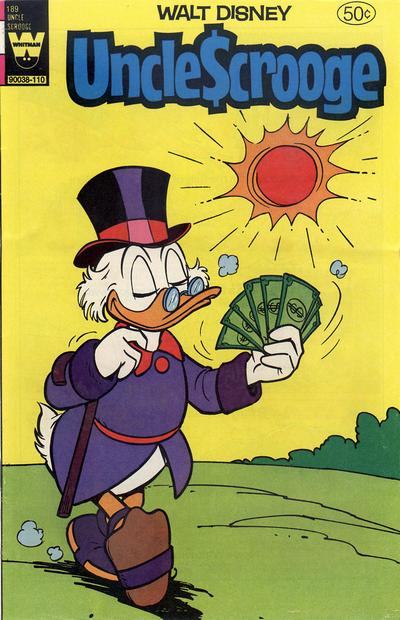 Cover for Uncle Scrooge (Western, 1963 series) #189