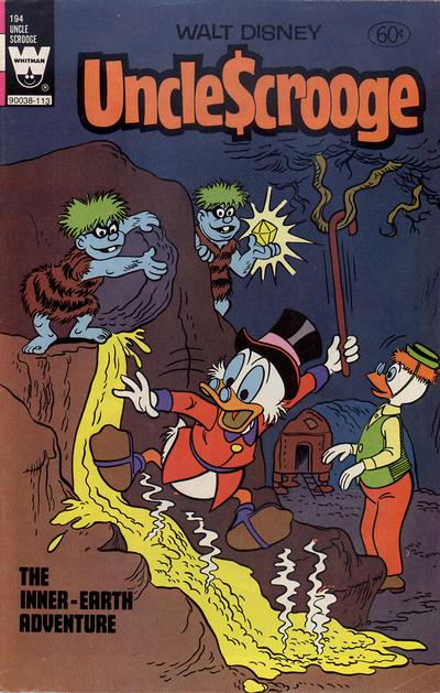 Cover for Uncle Scrooge (Western, 1963 series) #194 [White Whitman Logo]