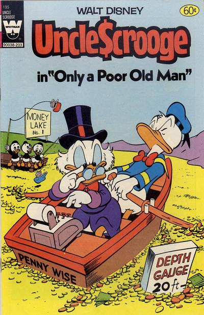 Cover for Uncle Scrooge (Western, 1963 series) #195 [White Whitman Logo]
