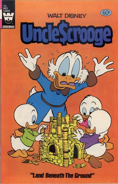 Cover for Uncle Scrooge (Western, 1963 series) #196 [Yellow Whitman Logo]