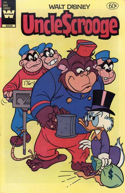 Cover for Uncle Scrooge (Western, 1963 series) #206