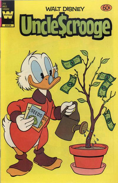 Cover for Uncle Scrooge (Western, 1963 series) #208