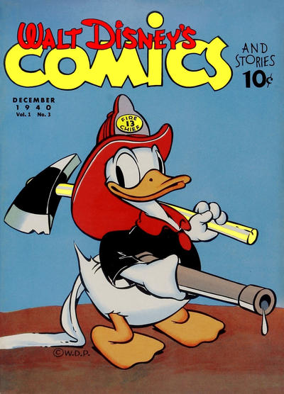 Cover for Walt Disney's Comics and Stories (Dell, 1940 series) #v1#3 [3]