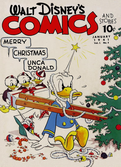 Cover for Walt Disney's Comics and Stories (Dell, 1940 series) #v1#4 [4]