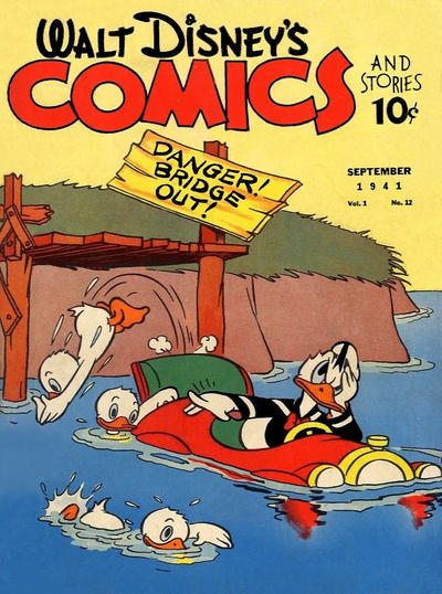 Cover for Walt Disney's Comics and Stories (Dell, 1940 series) #v1#12 [12]