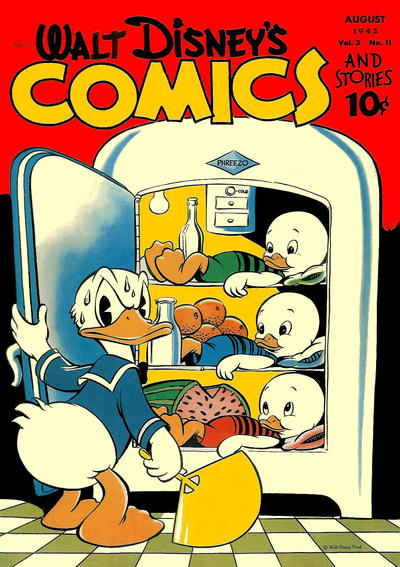 Cover for Walt Disney's Comics and Stories (Dell, 1940 series) #v3#11 (35)