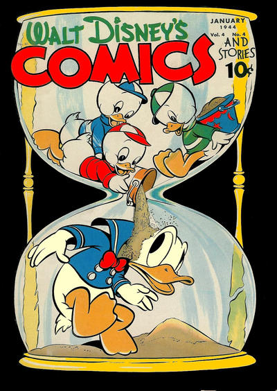 Cover for Walt Disney's Comics and Stories (Dell, 1940 series) #v4#4 (40)