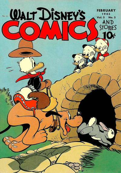Cover for Walt Disney's Comics and Stories (Dell, 1940 series) #v5#5 (53)