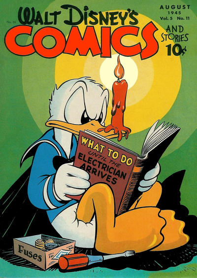 Cover for Walt Disney's Comics and Stories (Dell, 1940 series) #v5#11 (59)