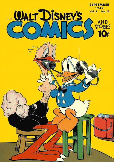 Cover for Walt Disney's Comics and Stories (Dell, 1940 series) #v5#12 (60)