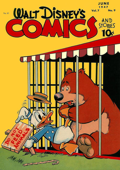Cover for Walt Disney's Comics and Stories (Dell, 1940 series) #v7#9 (81)