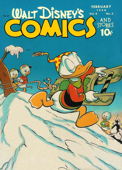 Cover for Walt Disney's Comics and Stories (Dell, 1940 series) #v8#5 (89)