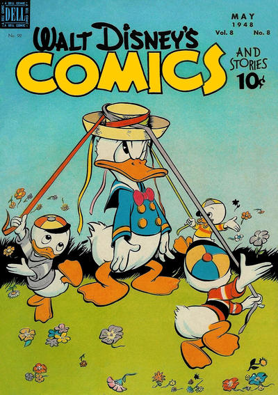 Cover for Walt Disney's Comics and Stories (Dell, 1940 series) #v8#8 (92)