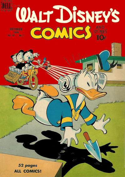 Cover for Walt Disney's Comics and Stories (Dell, 1940 series) #v10#1 (109)