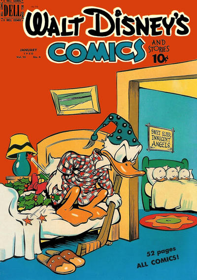Cover for Walt Disney's Comics and Stories (Dell, 1940 series) #v10#4 (112)