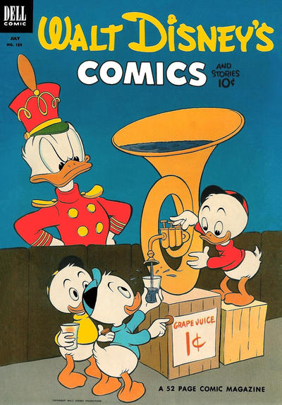 Cover for Walt Disney's Comics and Stories (Dell, 1940 series) #v13#10 (154)