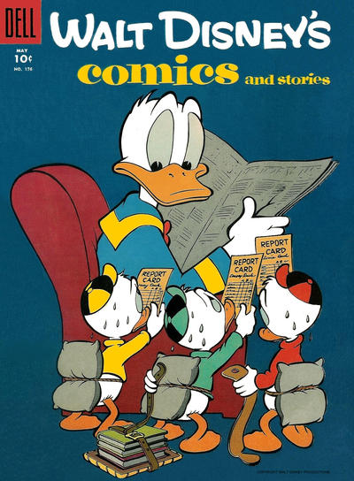 Cover for Walt Disney's Comics and Stories (Dell, 1940 series) #v15#8 (176)