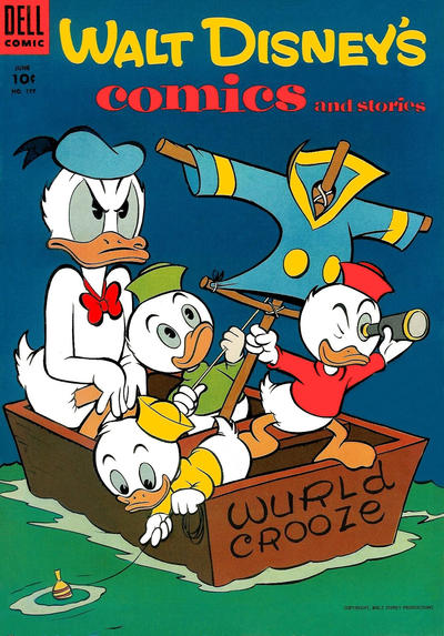 Cover for Walt Disney's Comics and Stories (Dell, 1940 series) #v15#9 (177)