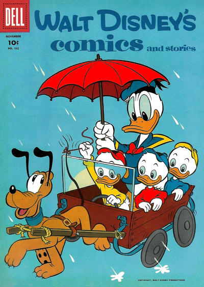 Cover for Walt Disney's Comics and Stories (Dell, 1940 series) #v16#2 (182)