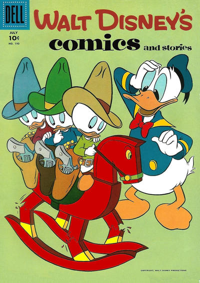 Cover for Walt Disney's Comics and Stories (Dell, 1940 series) #v16#10 (190)