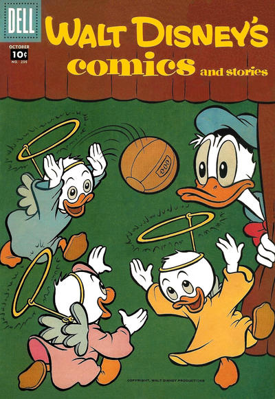Cover for Walt Disney's Comics and Stories (Dell, 1940 series) #v18#1 (205)