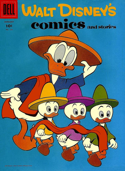 Cover for Walt Disney's Comics and Stories (Dell, 1940 series) #v18#4 (208)