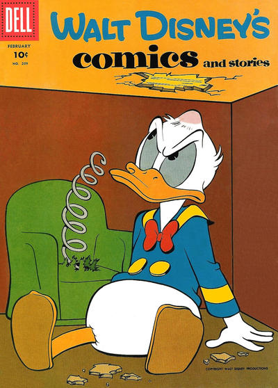Cover for Walt Disney's Comics and Stories (Dell, 1940 series) #v18#5 (209) [15¢]