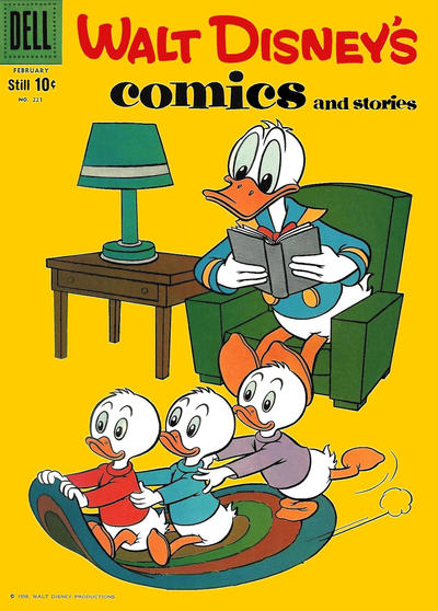 Cover for Walt Disney's Comics and Stories (Dell, 1940 series) #v19#5 (221)