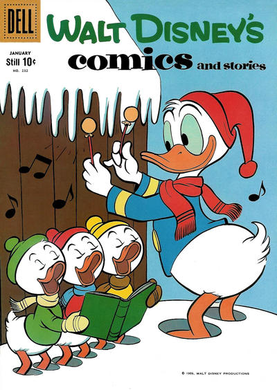 Cover for Walt Disney's Comics and Stories (Dell, 1940 series) #v20#4 (232)