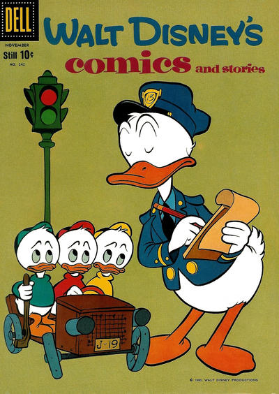 Cover for Walt Disney's Comics and Stories (Dell, 1940 series) #v21#2 (242)