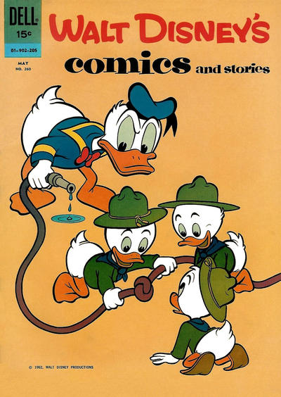Cover for Walt Disney's Comics and Stories (Dell, 1940 series) #v22#8 (260)