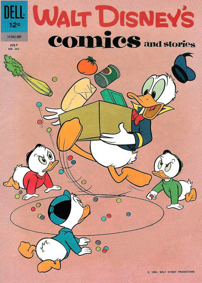 Cover for Walt Disney's Comics and Stories (Dell, 1940 series) #v22#10 (262)