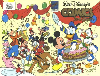 Cover for Walt Disney's Comics and Stories (Disney, 1990 series) #550