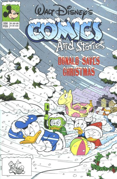 Cover for Walt Disney's Comics and Stories (Disney, 1990 series) #556