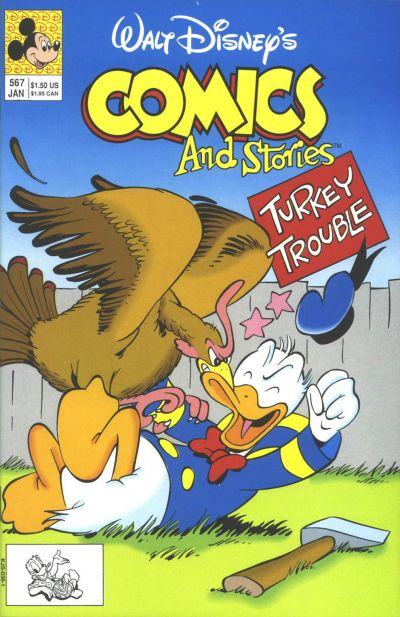 Cover for Walt Disney's Comics and Stories (Disney, 1990 series) #567