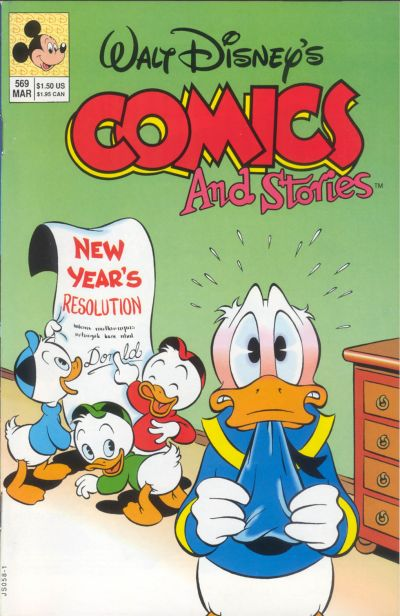 Cover for Walt Disney's Comics and Stories (Disney, 1990 series) #569 [Direct]