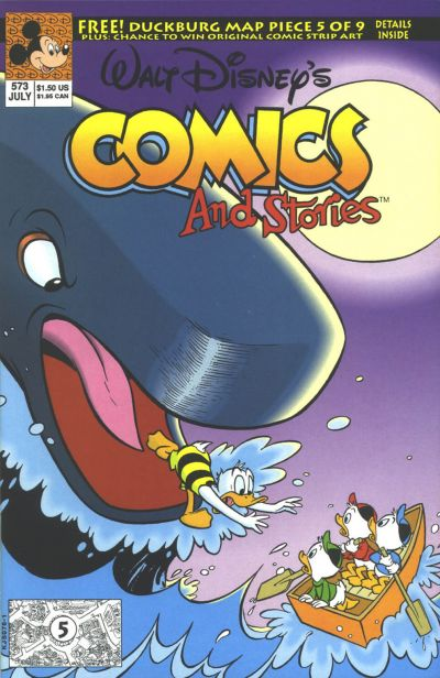 Cover for Walt Disney's Comics and Stories (Disney, 1990 series) #573