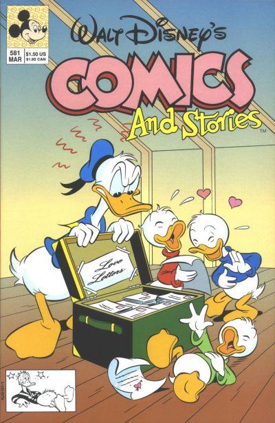 Cover for Walt Disney's Comics and Stories (Disney, 1990 series) #581