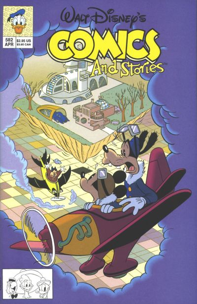 Cover for Walt Disney's Comics and Stories (Disney, 1990 series) #582