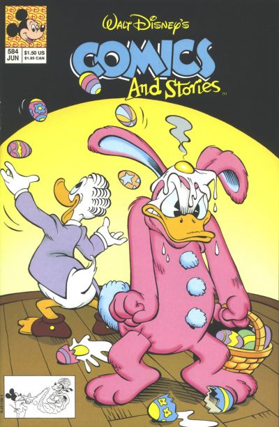 Cover for Walt Disney's Comics and Stories (Disney, 1990 series) #584