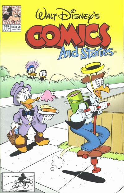 Cover for Walt Disney's Comics and Stories (Disney, 1990 series) #585