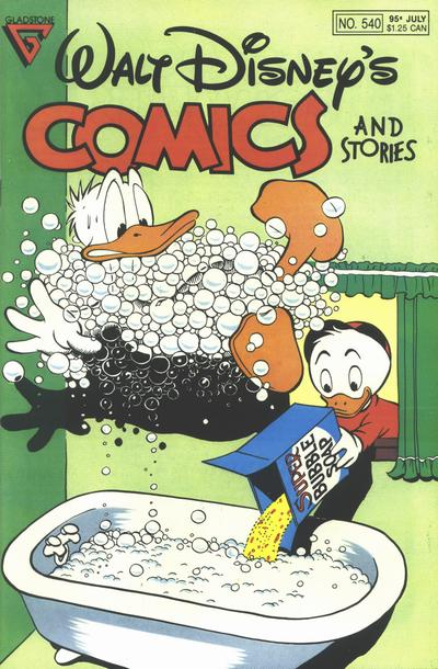 Cover for Walt Disney's Comics and Stories (Gladstone, 1986 series) #540
