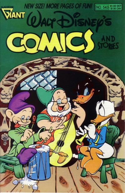 Cover for Walt Disney's Comics and Stories (Gladstone, 1986 series) #543
