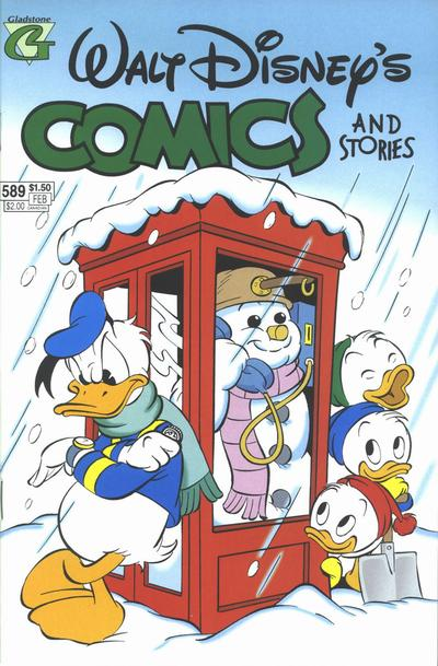 Cover for Walt Disney's Comics and Stories (Gladstone, 1993 series) #589