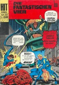 Cover Thumbnail for Hit Comics Die fantastischen Vier (BSV - Williams, 1970 series) #233