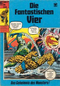 Cover Thumbnail for Hit Comics Die fantastischen Vier (BSV - Williams, 1970 series) #249