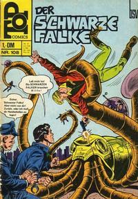 Cover Thumbnail for Top Comics Der Schwarze Falke (BSV - Williams, 1970 series) #108