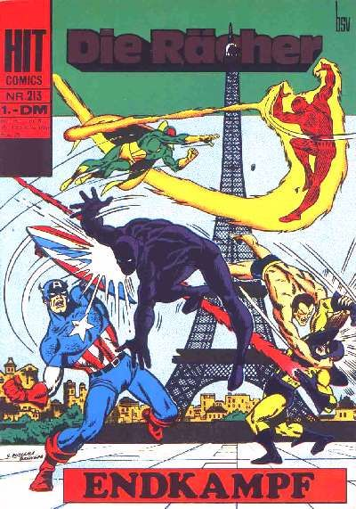 Cover for Hit Comics Die Rächer (BSV - Williams, 1971 series) #213